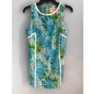 Lilly Pulitzer Beautiful Floral Shift Dress 💙💚